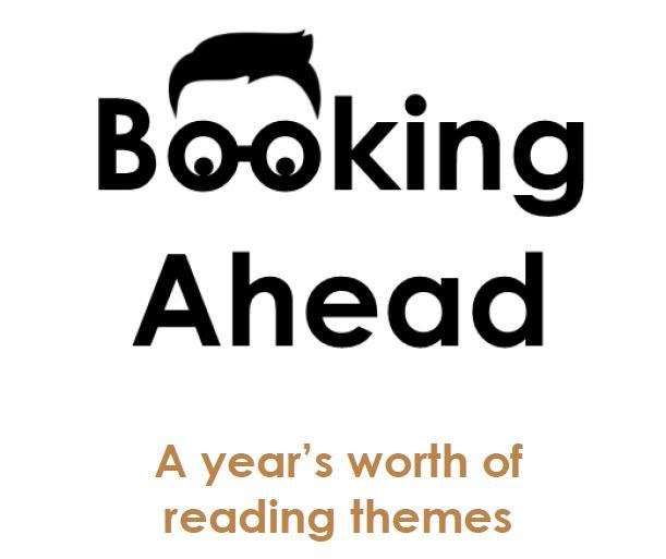 Booking Ahead Year Long Reading Program logo