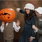 Three characters from &#39The Legend of Sleepy Hollow&#39 performance by Beaverton Civic Theatre.