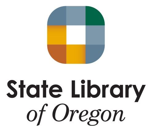 Logo for State Library of Oregon, providing leadership and resources for Oregonians.