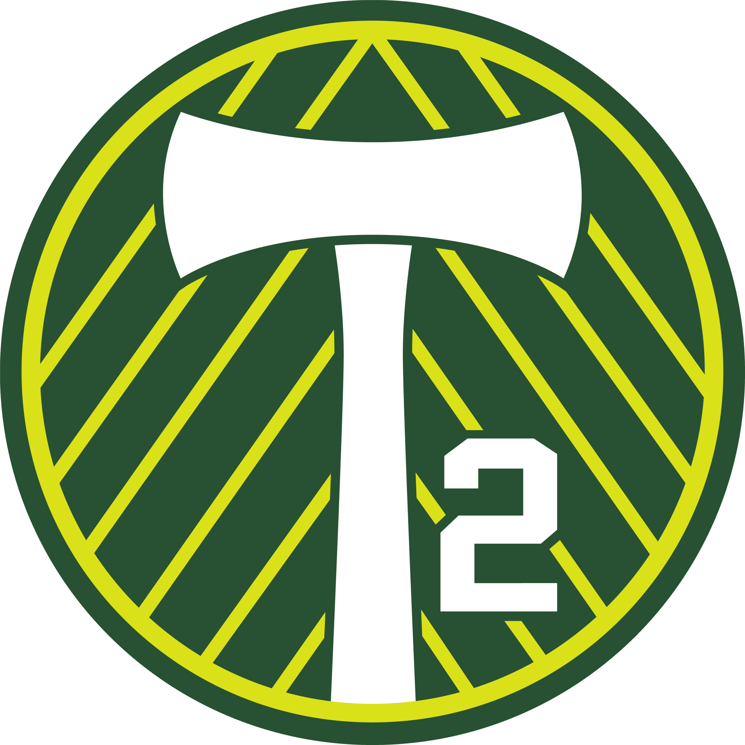 Logo for Portland Timbers, Oregon professional men's soccer team.