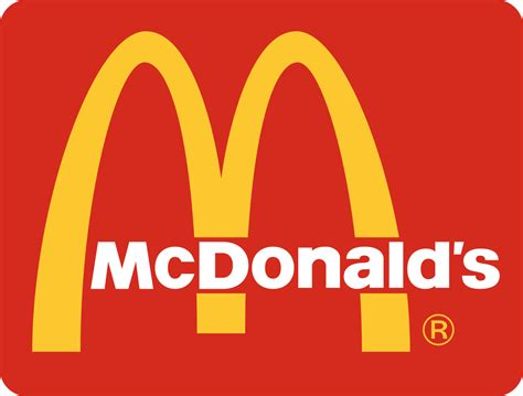 Logo for McDonald's, American franchise restaurants featuring fast food.