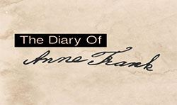Logo with text 'The Diary of Anne Frank.'
