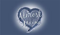 Logo with text for 'Almost, Maine.'