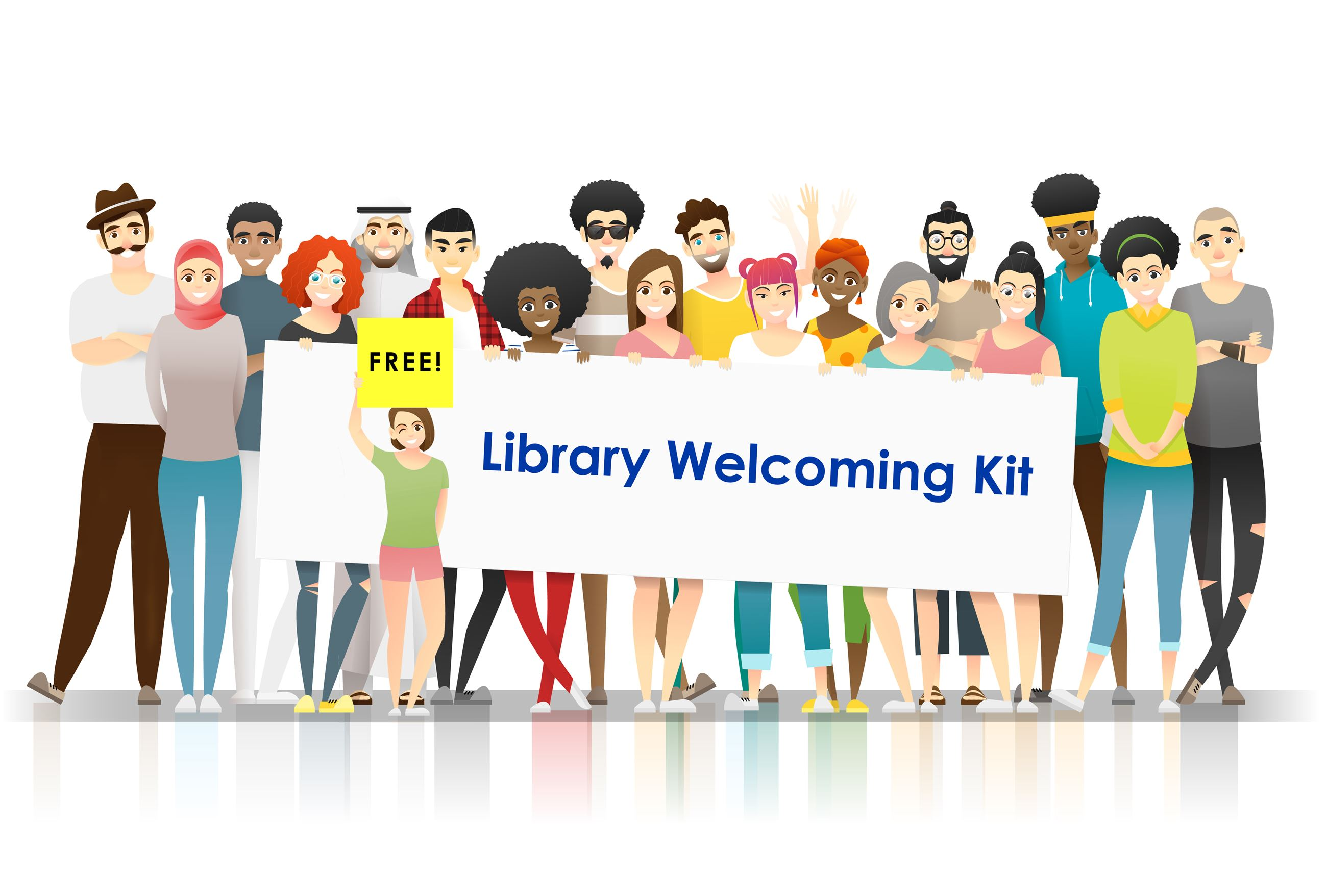 Image with text Free Library Welcoming Kit.