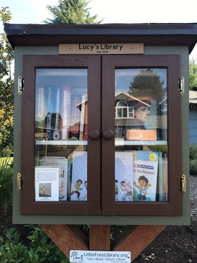 Image of Lucy's Little Free Library.