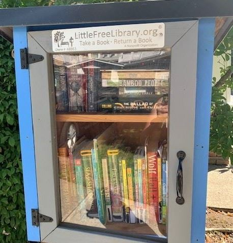 Image of Little Free Library on SW Audubon.