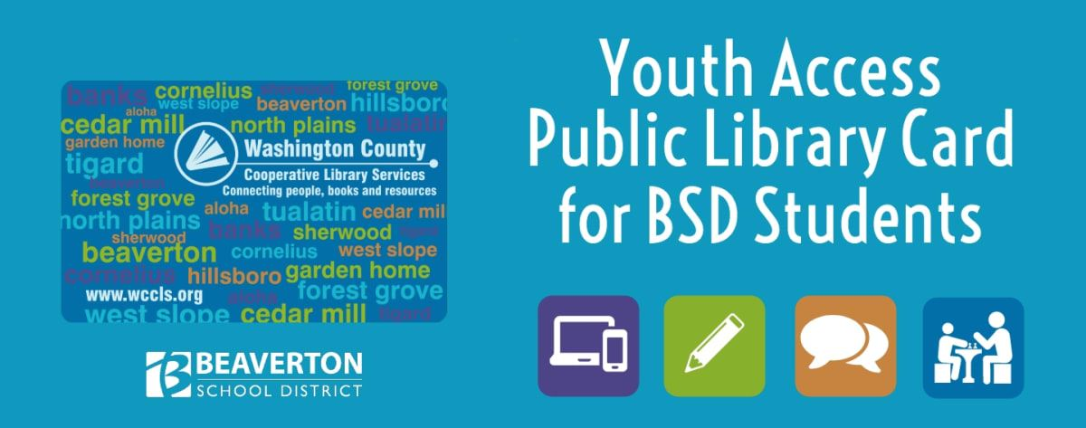 An image of the Beaverton School District Youth Access Card Graphic.