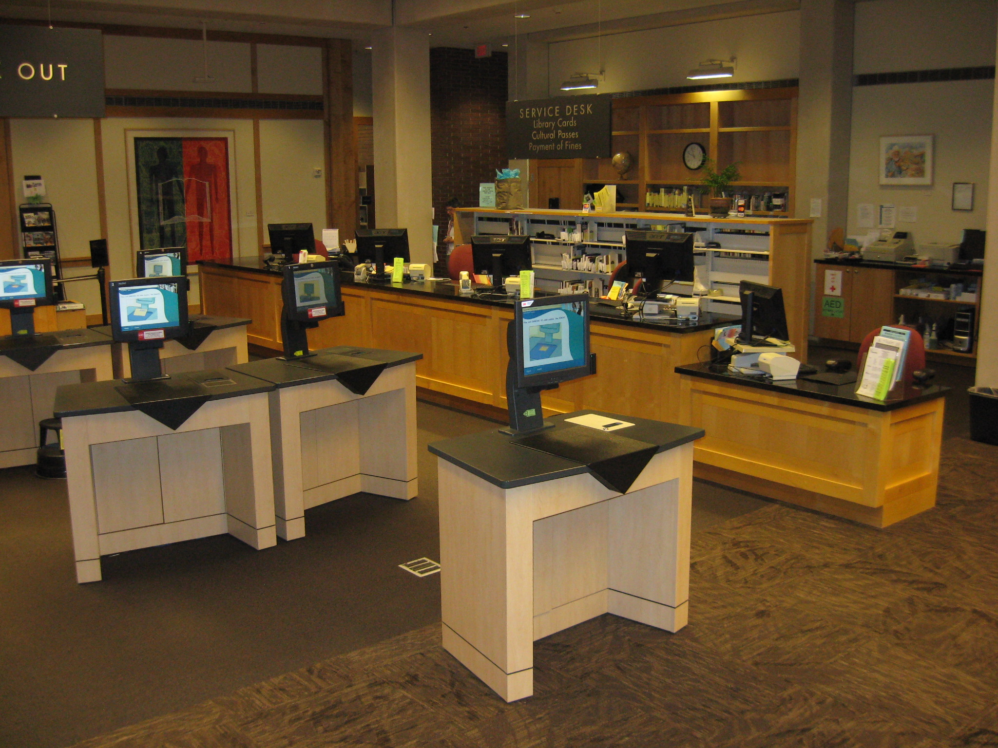 Self Checks and Circulation Desk